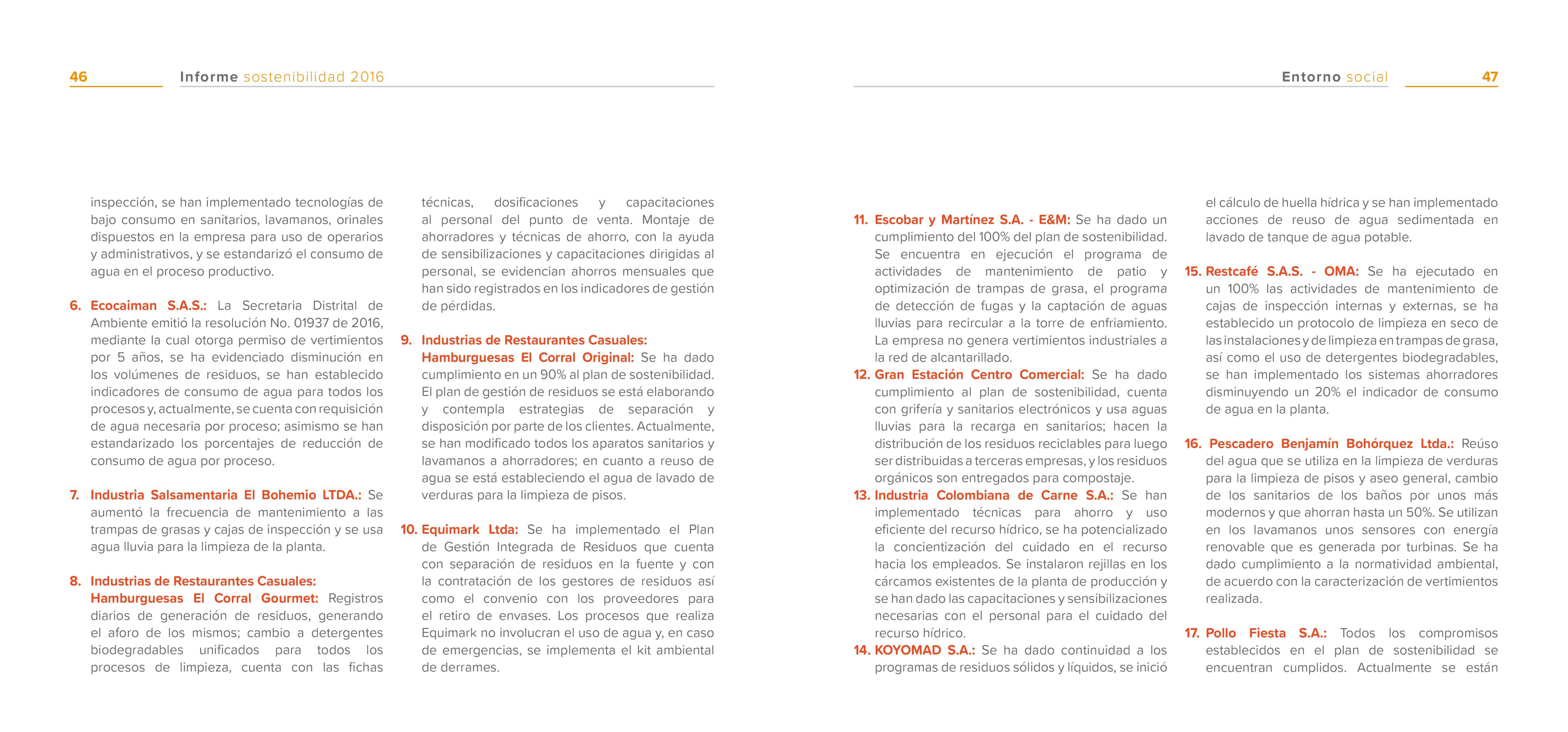 Indicadores Banos.Informe Sostenibilidad 2016